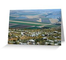 The landscape of the Gilbo'aa, Israel Greeting Card