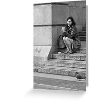 Down and out in London Greeting Card