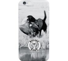 Dog hunting Geese - Mallard Down iPhone Case/Skin