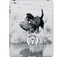 Dog hunting Geese - Mallard Down iPad Case/Skin