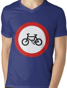 Cycling forbidden Mens V-Neck T-Shirt