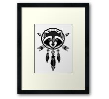 Raccoon Catcher Framed Print