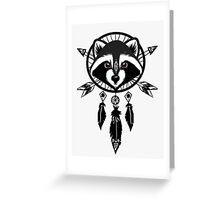 Raccoon Catcher Greeting Card