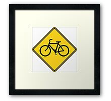 Bicycle Crossing Framed Print