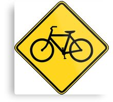 Bicycle Crossing Metal Print