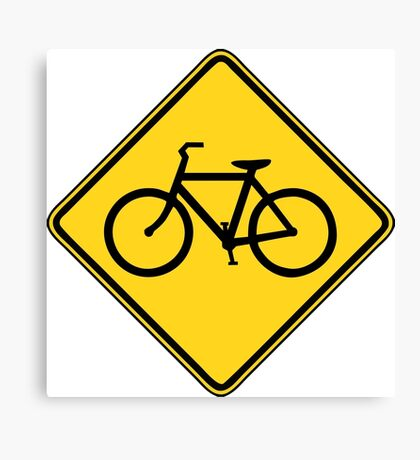 Bicycle Crossing Canvas Print
