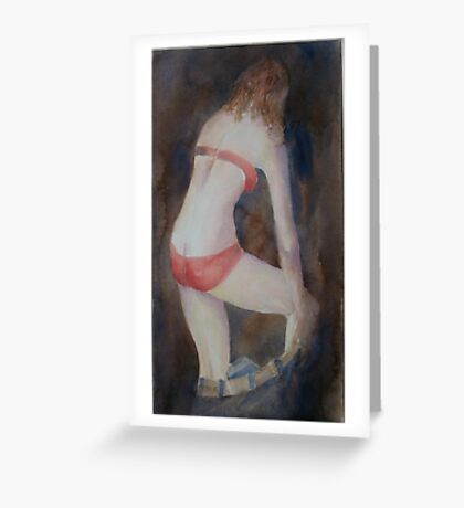 Red Bra and Knickers Greeting Card