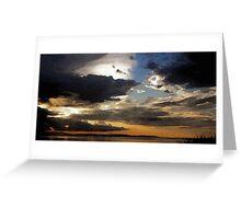 Moody Sky over Ayr Greeting Card
