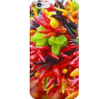 Colorful Hot Pepper Bunches iPhone Case/Skin