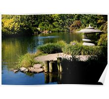 The Serenity of a Garden Pond    ^ Poster