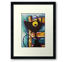 I'm not getting off Vincent's chair! Framed Print