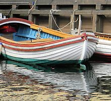 Small Colorful Boat by Kathleen Brant