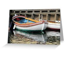 Small Colorful Boat Greeting Card