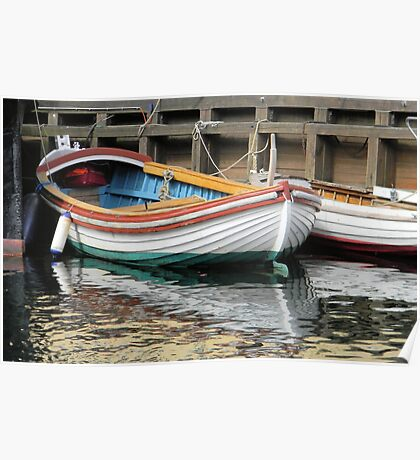 Small Colorful Boat Poster