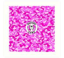 Pink Camo - Mallard Down Art Print