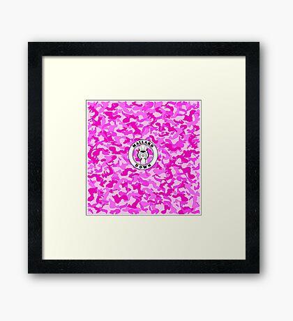 Pink Camo - Mallard Down Framed Print