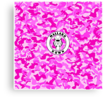 Pink Camo - Mallard Down Canvas Print