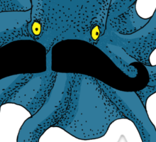 Octopus with a Mustache Sticker