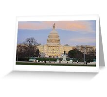 the US Capitol on a nice day Greeting Card