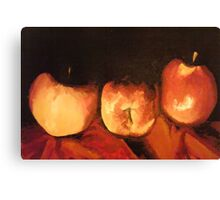 apple trio Canvas Print