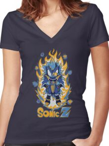 SONIC Z Women's Fitted V-Neck T-Shirt
