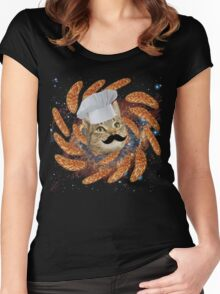 Chef Cat Women's Fitted Scoop T-Shirt