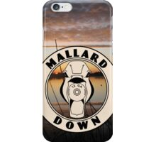 Duck Hunting Sunset - Mallard Down iPhone Case/Skin
