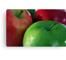 Apples Red & Green Canvas Print