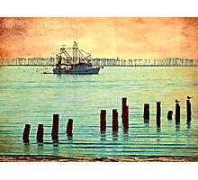 Coastal Shrimp Boat  Photographic Print