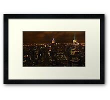 The empire state building, esb. Framed Print