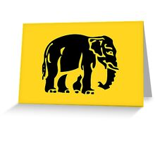 Caution Elephants Crossing ⚠ Thai Road Sign ⚠ Greeting Card