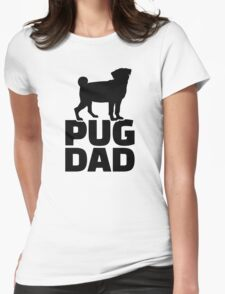 Pug Dad Womens Fitted T-Shirt