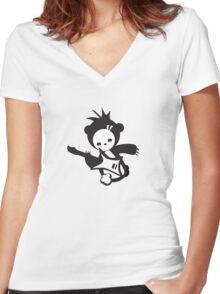 Music Bear Women's Fitted V-Neck T-Shirt
