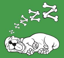 Sleepy Puppy  One Piece - Short Sleeve