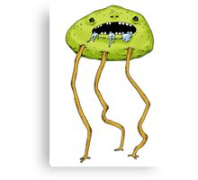 Drooling fellow on walkabout Canvas Print