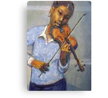 Girl with violin Canvas Print