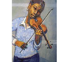 Girl with violin Photographic Print