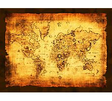 Vintage Old World Map Photographic Print