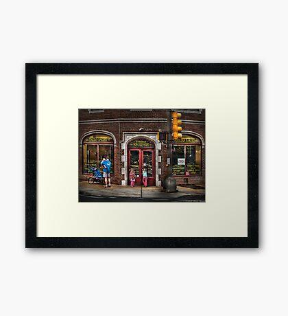 The Italian Bakery Framed Print