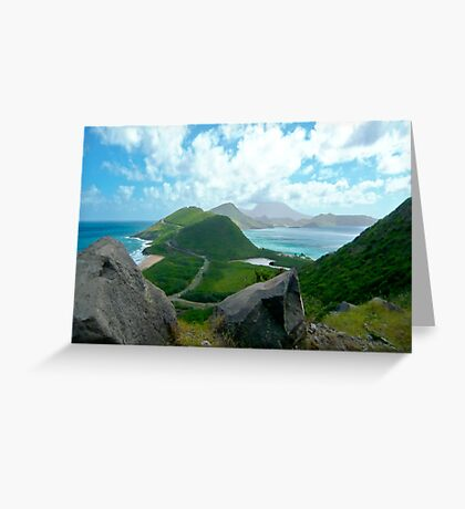 ST. KITTS BETWEEN THE ATLANTIC AND THE CARIBBEAN (CARD ONLY) Greeting Card