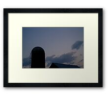 Yade Barn Roof and Silo at Twilight Framed Print