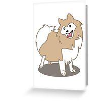 Pomeranian Dog Greeting Card