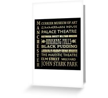 Manchester New Hampshire Famous Landmarks Greeting Card