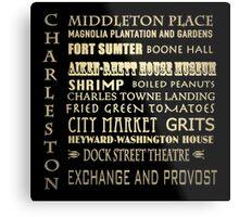 Charleston South Carolina Famous Landmarks Metal Print