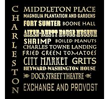 Charleston South Carolina Famous Landmarks Photographic Print