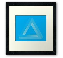 Penrose Negative Halftone Framed Print