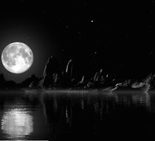 Moonlight Sonata/BW by AlienVisitor
