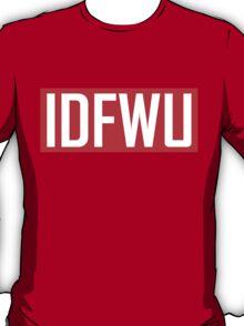 IDFWU - Red and White T-Shirt