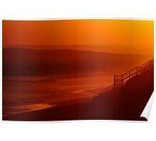 Red Sunset,13Th Beach,Bellarine Peninsula Poster
