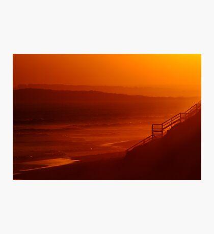 Red Sunset,13Th Beach,Bellarine Peninsula Photographic Print